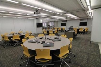Photo of an empty TILE classroom.