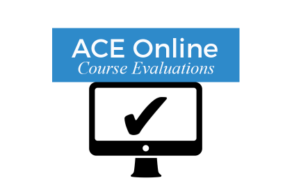 ACE Online Course Evaluations logo