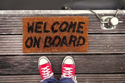 Welcome On Board rug
