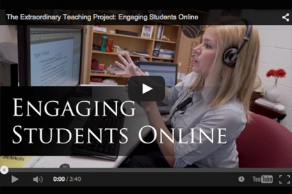 Video still from Sarah Vigmostad's Engaging Students Online project.