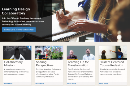Learning Design Collaboratory website