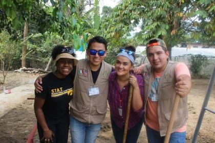 Students from the Xicotepec service-learning project in Mexico.
