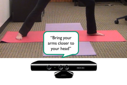 Kyle Rector demonstrates Eyes-Free Yoga class using Microsoft Kinect