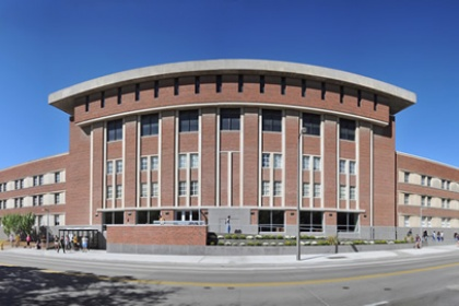 Panoramic photo of the main library.
