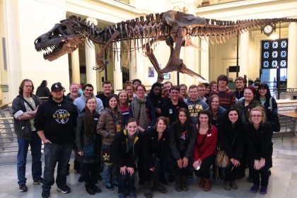Origins of Life and the Universe students visit the Field Museum to see Sue the dinosaur.