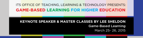 Promotional banner for the Game-Based Learning master classes.